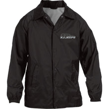 XJ Jeeps silver embroidered logo M775 Harriton Nylon Staff Jacket