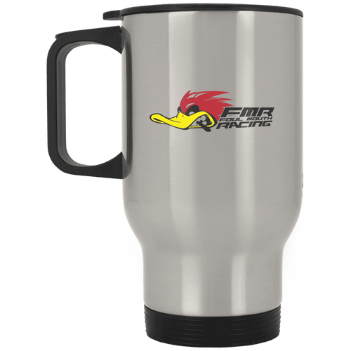 FOUL MOUTH RACING XP8400S Silver Stainless Travel Mug