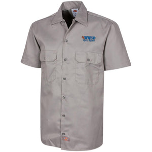 WWSD embroidered logo 1574 Dickies Men's Short Sleeve Workshirt