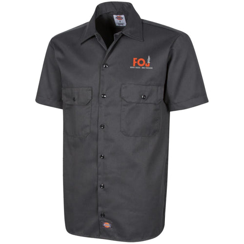 FOJ silver embroidered 1574 Dickies Men's Short Sleeve Workshirt