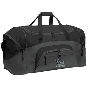 Yeti silver embroidered logo BG99 Port & Co. Colorblock Sport Duffel
