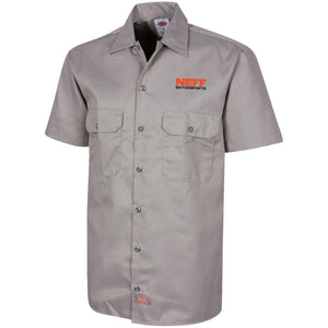 Neff Motorsports embroidered 1574 Dickies Men's Short Sleeve Workshirt