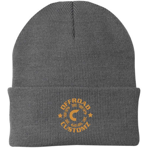 Offroad Customz gold embroidered logo CP90 Port Authority Knit Cap
