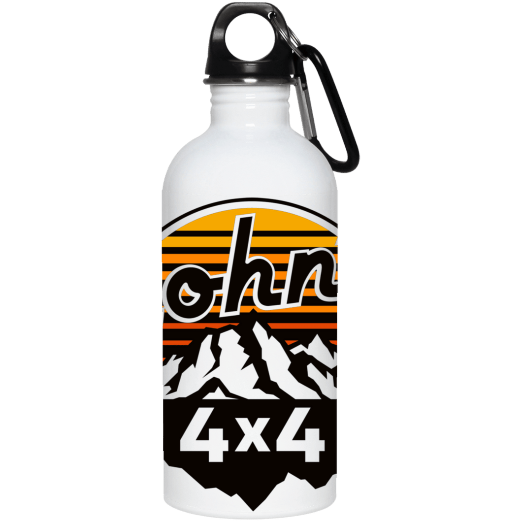 John's 4x4 full wrap around logo 23663 20 oz. Stainless Steel Water Bottle