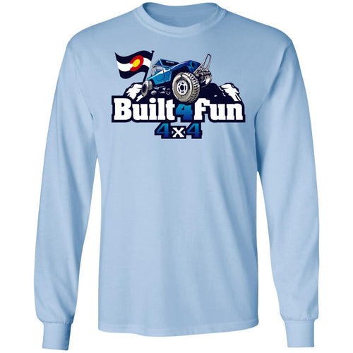 Built4Fun blue G240 Gildan LS Ultra Cotton T-Shirt