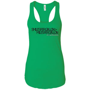JeepDaddy Smiles Per Gallon > Miles Per Gallon Ladies' Ideal Racerback Tank