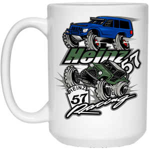 H57 Racing 21504 15 oz. White Mug