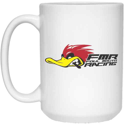 FOUL MOUTH RACING 21504 15 oz. White Mug