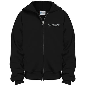 Bloodline Offroad silver embroidered logo PC90YZH Port & Co. Youth Full Zip Hoodie