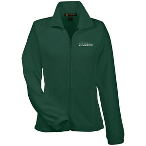 XJ Jeeps silver embroidered logo M990W Harriton Women's Fleece Jacket