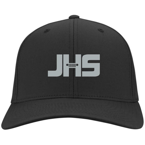 JHS silver embroidered logo C813 Port Authority Flex Fit Twill Baseball Cap
