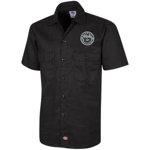 MWJT silver & black embroidered logo 1574 Dickies Men's Short Sleeve Workshirt