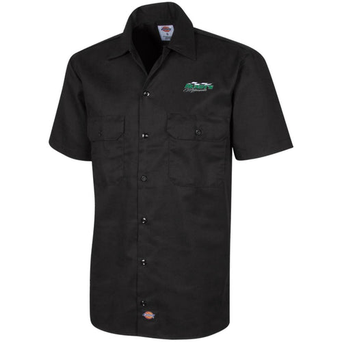 Hundt's Motorsports silver embroidered 1574 Dickies Men's Short Sleeve Workshirt