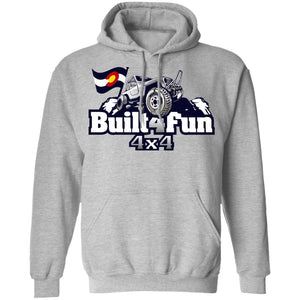 Built4Fun grey G185 Gildan Pullover Hoodie 8 oz.
