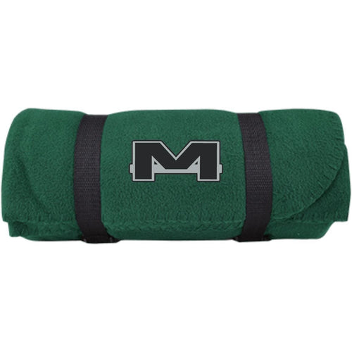 MOAB Motorsports silver embroidered BP10 Port & Co. Fleece Blanket