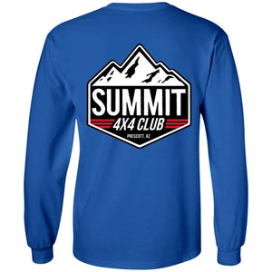 Summit 4x4 2-sided print G240B Gildan Youth LS T-Shirt