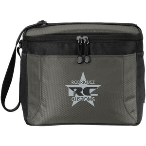 Rodriguez Customs silver and black embroidered logo BG513 12-Pack Cooler