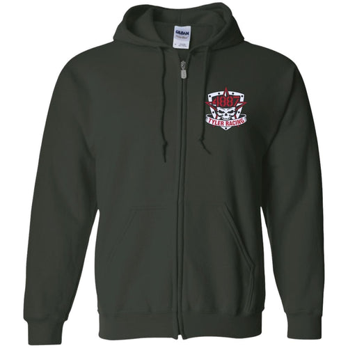 Tyler Racing embroidered G186 Gildan Zip Up Hooded Sweatshirt