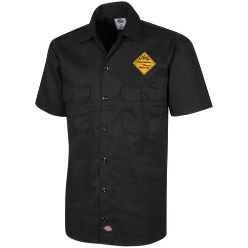 Adventure Bound Offroad gold embroidered logo 1574 Dickies Men's Short Sleeve Workshirt