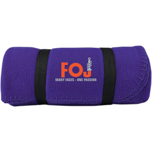 FOJ silver embroidered BP10 Port & Co. Fleece Blanket