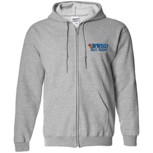 WWSD embroidered logo G186 Gildan Zip Up Hooded Sweatshirt