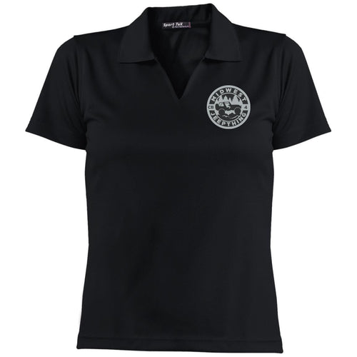 MWJT silver & black embroidered logo L469 Sport-Tek Ladies' Dri-Mesh Short Sleeve Polo