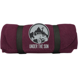 Under The Son Racing embroidered BP10 Port & Co. Fleece Blanket