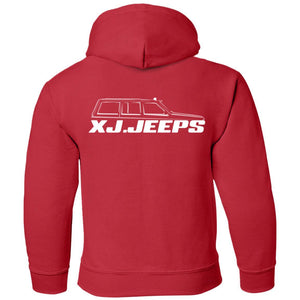 XJ Jeeps 2-sided print G185B Gildan Youth Pullover Hoodie