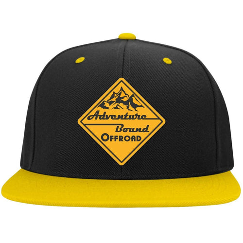 Adventure Bound Offroad gold embroidered logo STC19 Sport-Tek Flat Bill High-Profile Snapback Hat