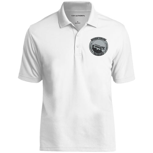 Rubiconjk silver embroidered logo K110 Port Authority Dry Zone UV Micro-Mesh Polo