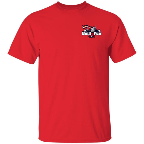 Built4Fun red 2-sided print G500 Gildan 5.3 oz. T-Shirt