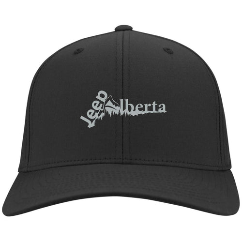 Jeep Alberta silver embroidered logo C813 Port Authority Flex Fit Twill Baseball Cap