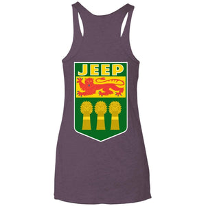 JSK_Star 2-sided print NL6733 Next Level Ladies' Triblend Racerback Tank