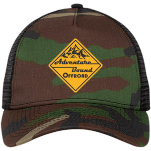 Adventure Bound Offroad gold embroidered logo NE205 New Era® Snapback Trucker Cap
