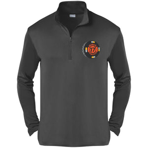 Black 17 embroidered ST357 Sport-Tek Competitor 1/4-Zip Pullover