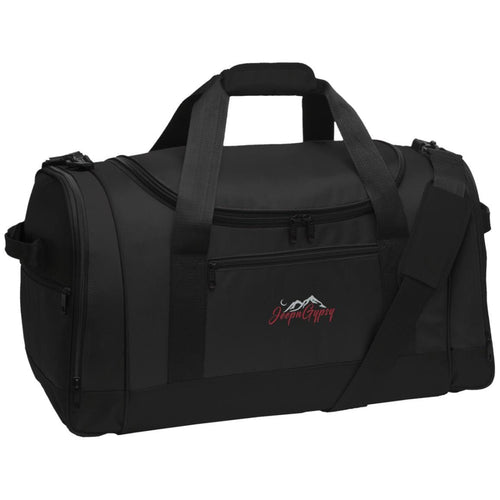 JeepnGypsy silver & red embroidered BG800 Travel Sports Duffel