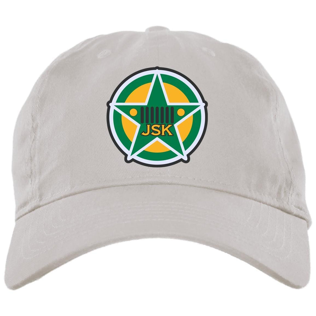 JSK_Star embroidered logo BX001 Brushed Twill Unstructured Dad Cap