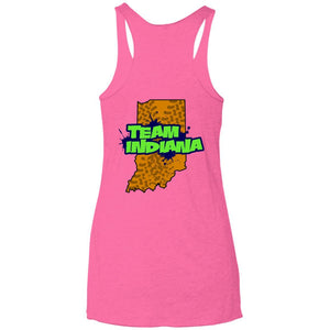 B&B Motorsports 2-sided print (Team Indiana back) NL6733 Next Level Ladies' Triblend Racerback Tank