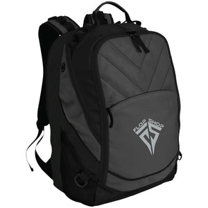 Flop Shop silver embroidered logo BG100 Port Authority Laptop Computer Backpack