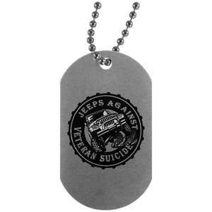 Jeeps Against Veteran Suicide UN4004 Dog Tag