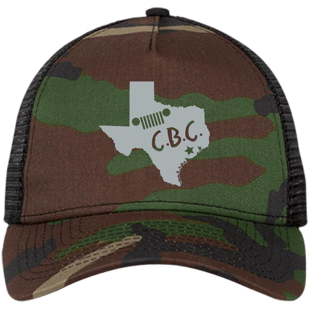 C.B.C. embroidered silver logo NE205 New Era® Snapback Trucker Cap