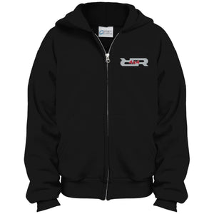 Rock Reaper embroidered PC90YZH Port & Co. Youth Full Zip Hoodie