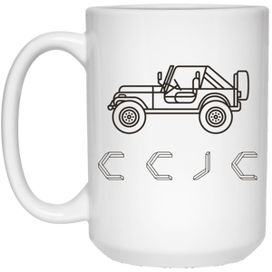 Calloway County Jeep Club 21504 15 oz. White Mug