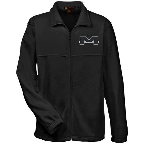 MOAB Motorsports silver embroidered M990 Harriton Fleece Full-Zip