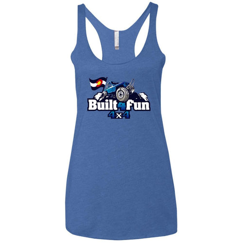 Built4Fun blue NL6733 Next Level Ladies' Triblend Racerback Tank