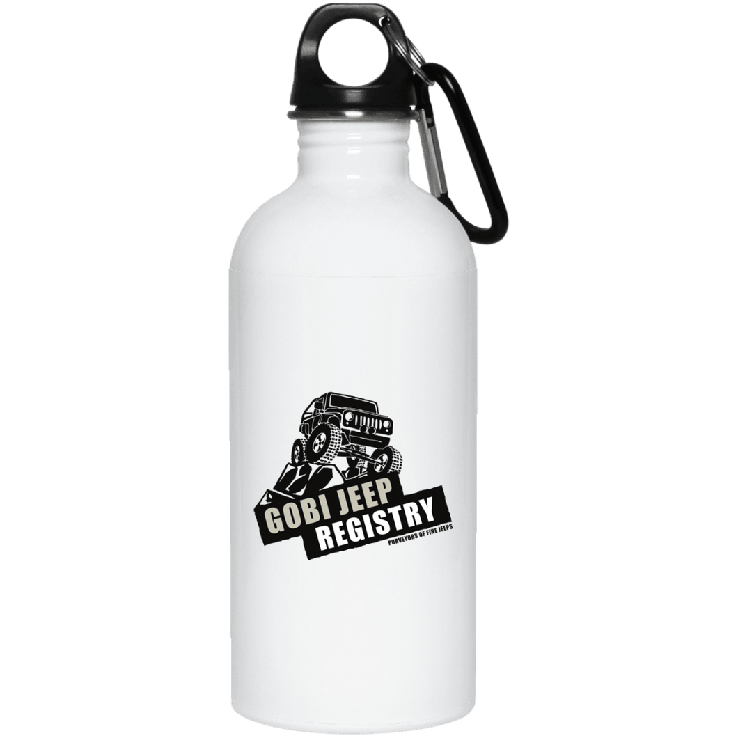Gobi Jeep Registry Logo 23663 20 oz. Stainless Steel Water Bottle