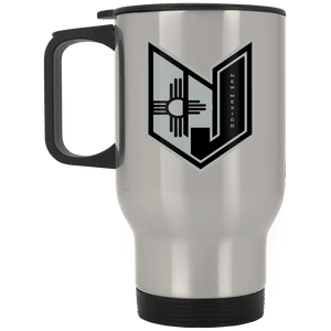 Wicked Jeeps NM Black & Grey XP8400S Silver Stainless Travel Mug