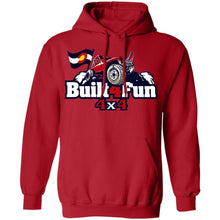 Built4Fun red G185 Gildan Pullover Hoodie 8 oz.