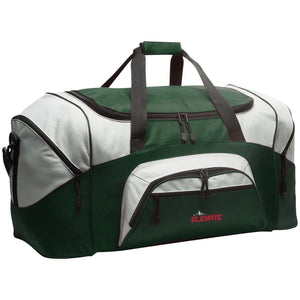 Elevate Off-Road embroidered logo BG99 Port & Co. Colorblock Sport Duffel