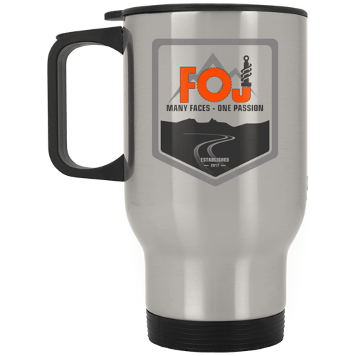 FOJ dye sublimation XP8400S Silver Stainless Travel Mug